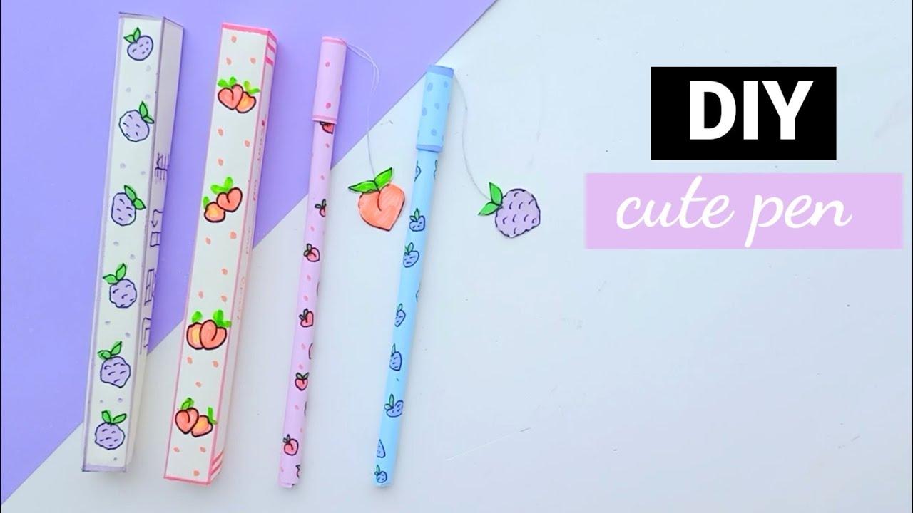 DIY homemade cute pen decoration /How to make pen decoration /homemade pen idea / #shorts
