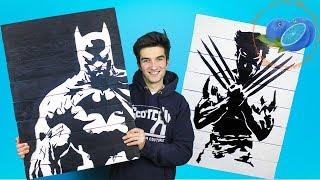 CUM SA FACI UN TABLOU Logan X-MEN BATMAN