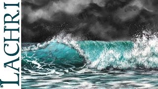 How to paint a wave - speed painting w/ Lachri