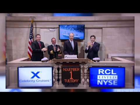 1 November 2011 Celebrity Silhouette Docks in Tri-State rings NYSE Opening Bell