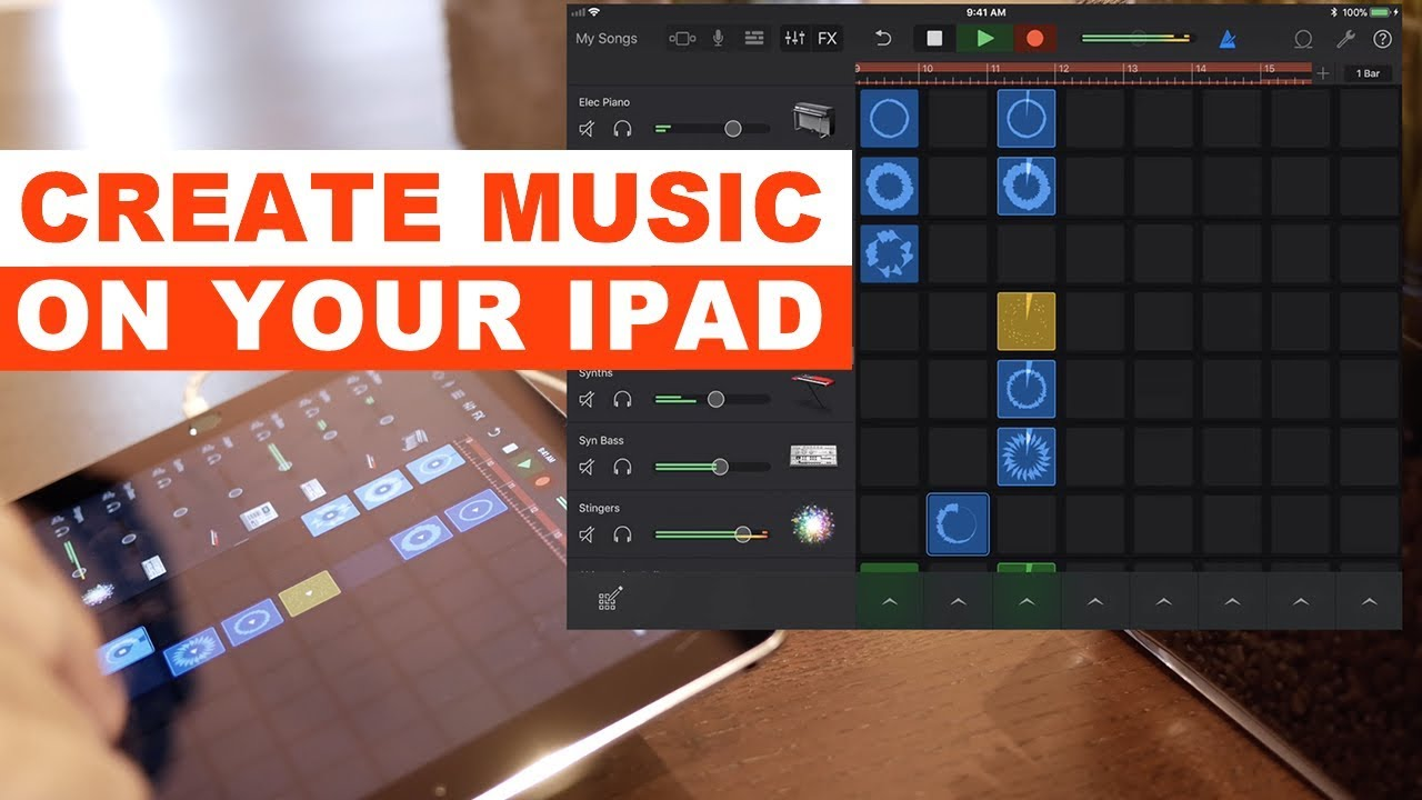 How to make a cool song on garageband ipad