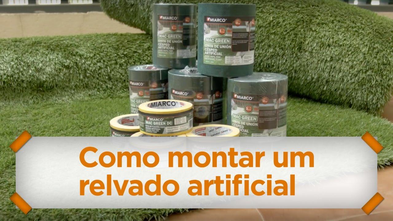 Armario De Cozinha Modulado ~ Como instalar relva artificial com a nossa fita de uni u00e3o e fixaç u00e3o u2014 MIARCO YouTube