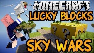 CHICKEN SQUAD | Vanilla Minecraft Lucky Blocks Sky Wars