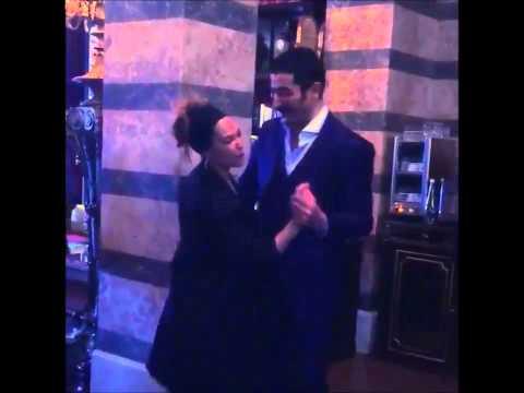 * Kenan Imirzalioglu dancing with Hulya Avsar *