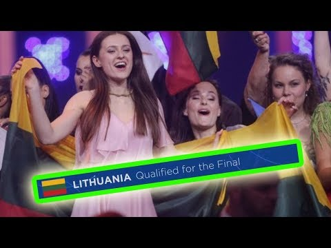 every time LITHUANIA qualified for the eurovision final