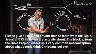 Please give 30 mins to learn what the Bible, Jesus and Christianity are actually all about.