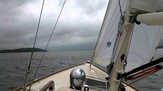 Morris Yachts' M29 sails off the coast of Scotland