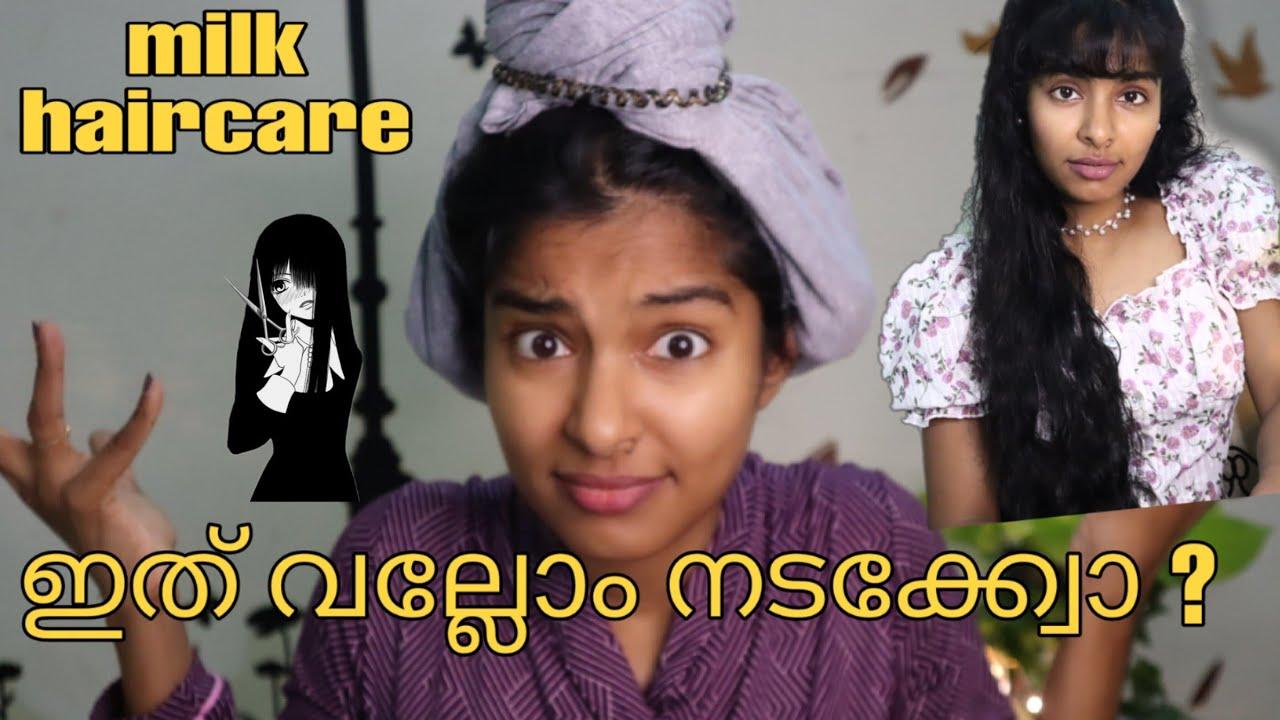 Testing Weird Hair Hack from Tiktok|Heatless Overnight Curls!Hair care with milk|Asvi Malayalam