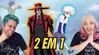 REACT 2 em 1 Rap do Killua (Hunter x Hunter) e Rap do Alucard (Hellsing)  (Enygma)