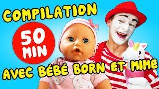 Compilation de vidéos drôles. Histoires de baby born. Le mime nounou