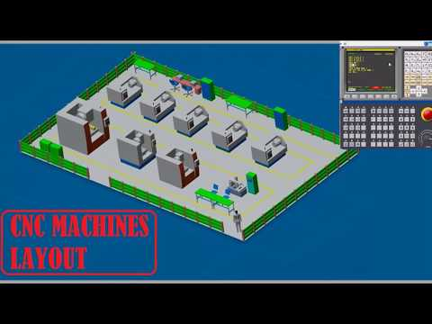 CNC MACHINES SHOP FLOOR LAYOUT ~ MACHINES LAYOUT ~ SHOP FLOOR LAYOUT