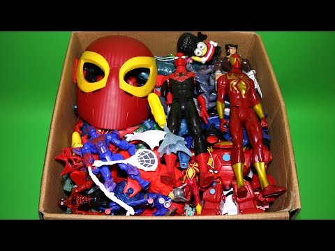 Box of Toys: Marvel Mashers, Cars, Spiderman Titan Series Action Figures and More