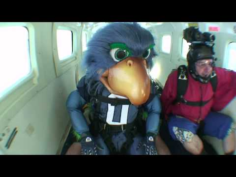 Seahawks mascot goes skydiving!