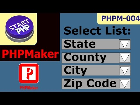 Dynamically Populate Select Menu For States, County, City And Zip Code PHPM-004