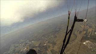 *** Paragliding Into A Dust Devil Then Into A Cloud! ( XCFlyingBlog ) ***