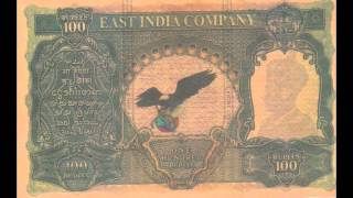 100 Rupee EAST INDIA COMPANY paper note..History of making coin..Antic Coin collection of India .