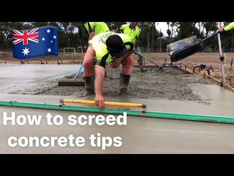 How to screed concrete tips