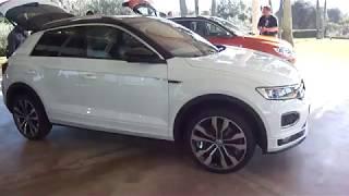 Volkswagen NEW T-roc R-Line 2018 White silver/ orange metallic first look