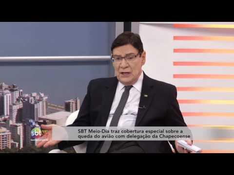 SBT Meio-Dia traz cobertura especial sobre a queda do avião com delegação da Chapecoense