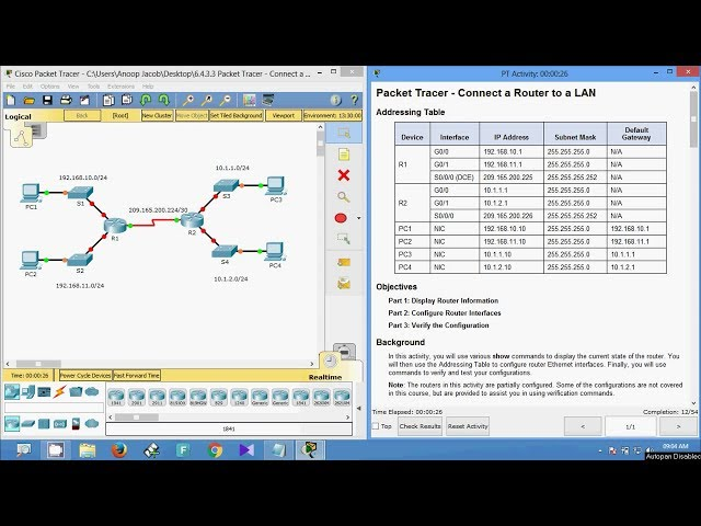 cisco packet tracer 6.4.1.3