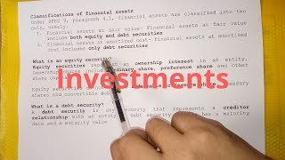 Investments (Overview)