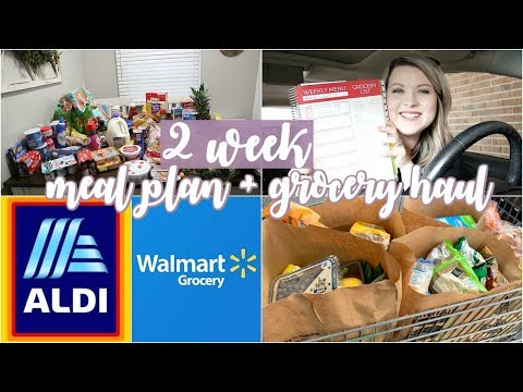 huge-grocery-haul-and-meal-plan-for-2-weeks- -aldi-and-walmart