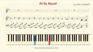 """Video How To Play Piano: Shirley Bassey """"All By Myself"""" by ERIC CARMEN Piano Tutorial by Ramin Yousefi download MP3, 3GP, MP4, WEBM, AVI, FLV September 2018"""