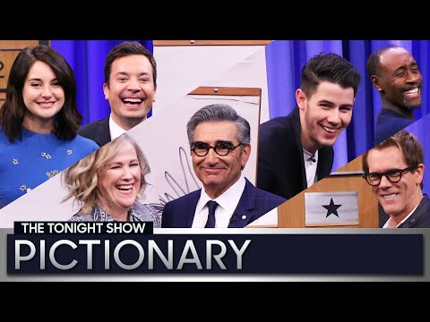 Tonight Show Pictionary with Eugene Levy, Catherine O'Hara, Nick Jonas and More