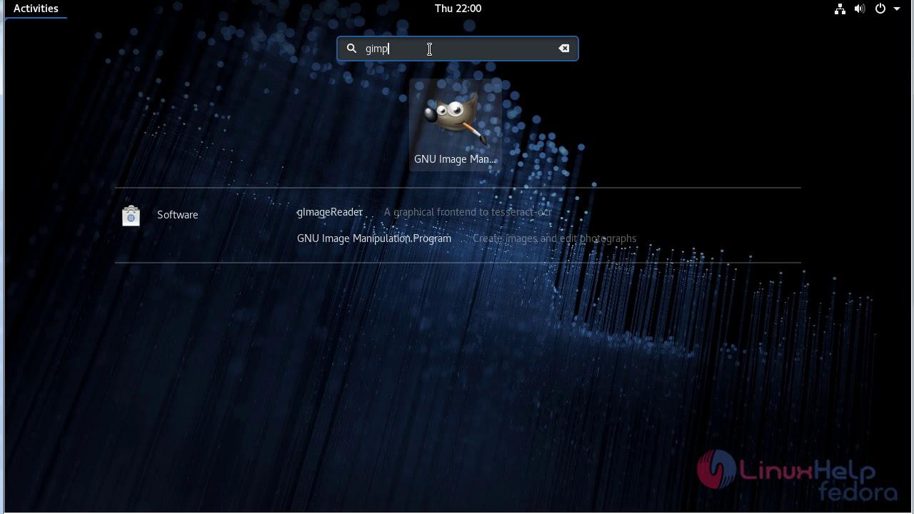 How to install GIMP 2 8 22 on Fedora-28   LinuxHelp Tutorials
