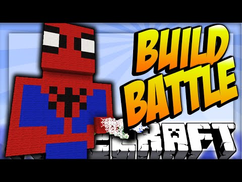 SPIDERMAN! - Minecraft TEAM BUILD BATTLE #5 with Vikkstar123 & Woofless