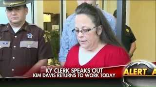 Kim Davis: Same-sex marriage licenses will be issued without my name on them.