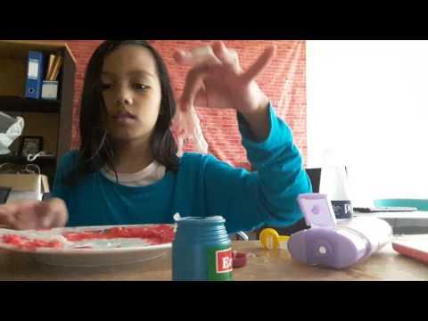 Cara membuat slime dengan 3 bahan yang ada dirumah.