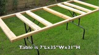 Plywood Panel Cutting Table -easy And Storable