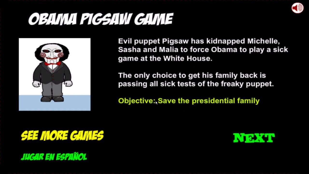 Obama Saw Game Inkagames Walkthrough