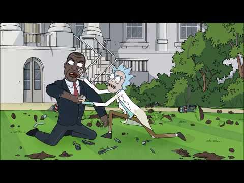 Rick Vs The US  President [Rick And Morty Season 3 Episode 10]
