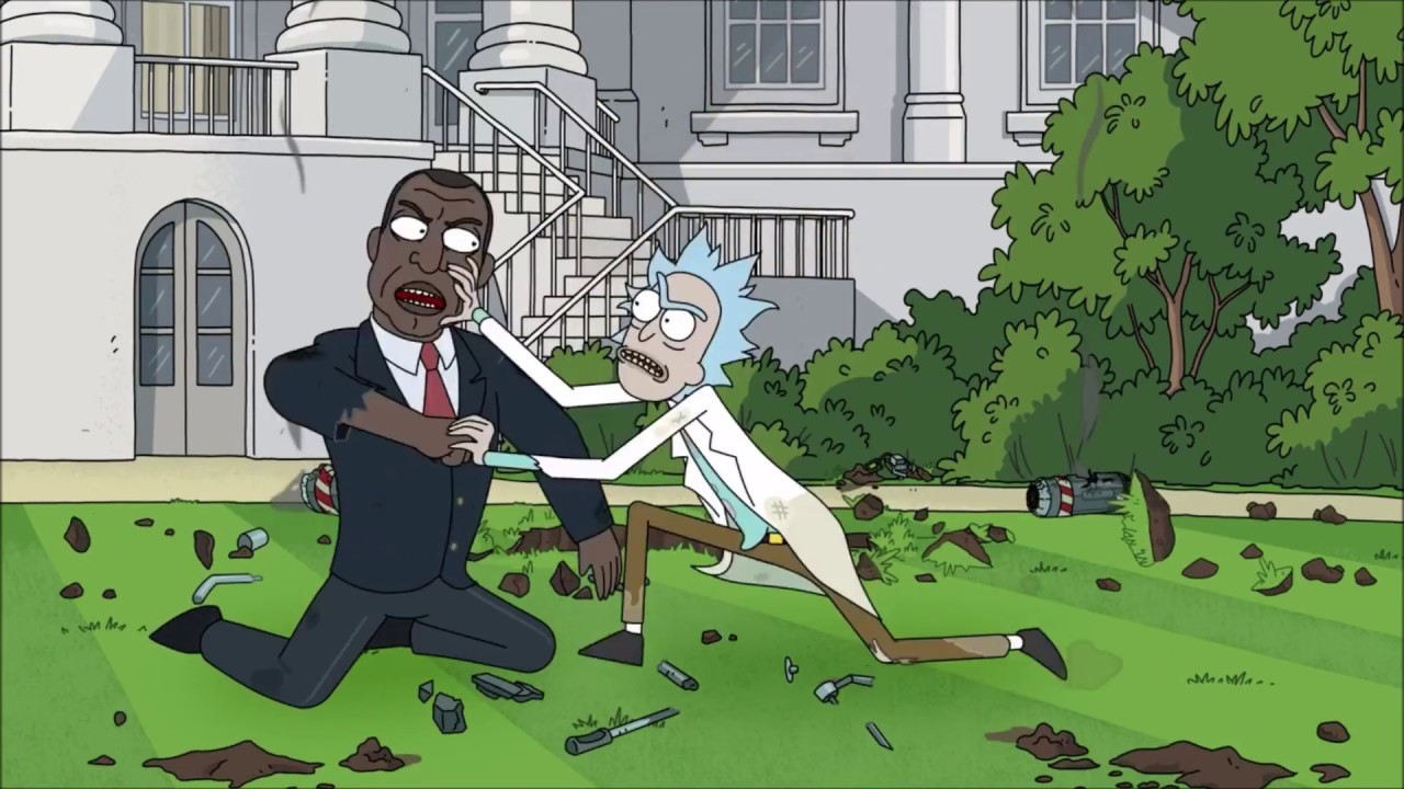 Rick Vs The US  President [Rick And Morty Season 3 Episode 10]