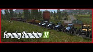 Train vs heavy tractors - Farming simulator 17 Pociąg vs duże traktory