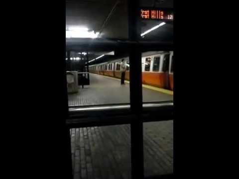 MBTA Orange Line Train at Stony Brook