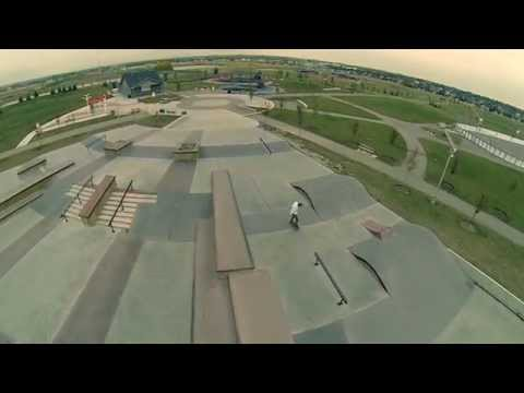 Airdrie, Alberta Skatepark Aerial Video - New Line Skateparks