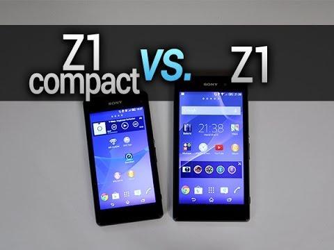 Sony Xperia Z1 vs. Z1 Compact, comparatif complet - par Test-Mobile.fr