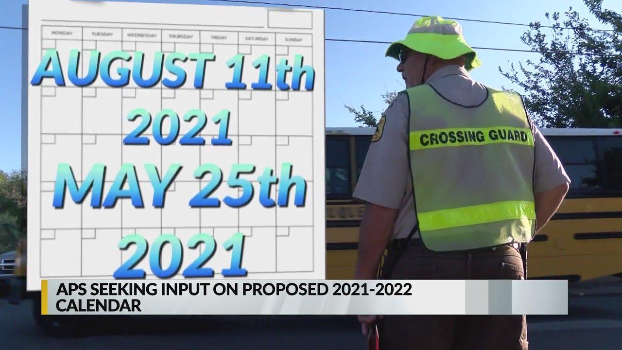Aps Calendar 2022.Aps Seeking Input On Proposed 2021 2022 Calendar Youtube