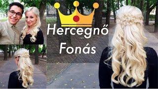 Hercegnő fonás - Princess braid (Szalagtűző / Szalagavató haj) - Bencze Máté
