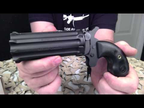 Cobray Derringer Pepperbox 10 Shot 22Mag Pistol Overview - Texas Gun Blog