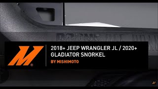 homepage tile video photo for 2018+ Jeep Wrangler JL/2020+ Jeep Gladiator Snorkel Installation Guide by Mishimoto Automotive