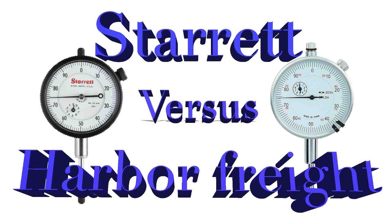 Harbor Freight Dial Indicator : Dial indicator comparison harbor freight versus starrett