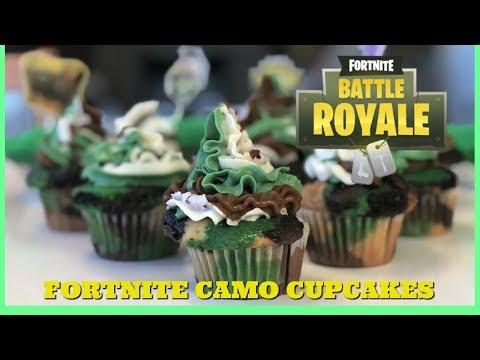 Fortnite Camouflage Cupcakes I Food I How to Cook Craft & Kids