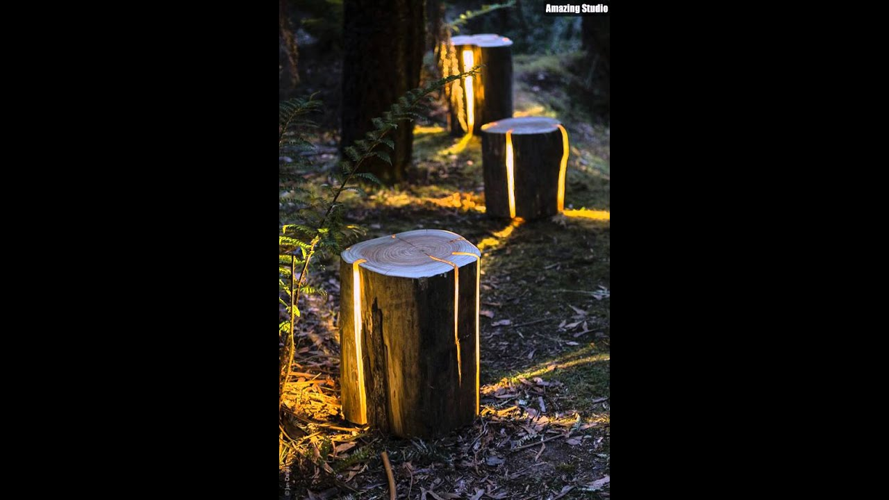 Stump Diy Garden Path Lighting Youtube