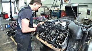 Фото Собираем мотор SCANIA V8 16L 510 ЛС - Диагностика и ремонт двигателей грузовиков - Моторс Трак