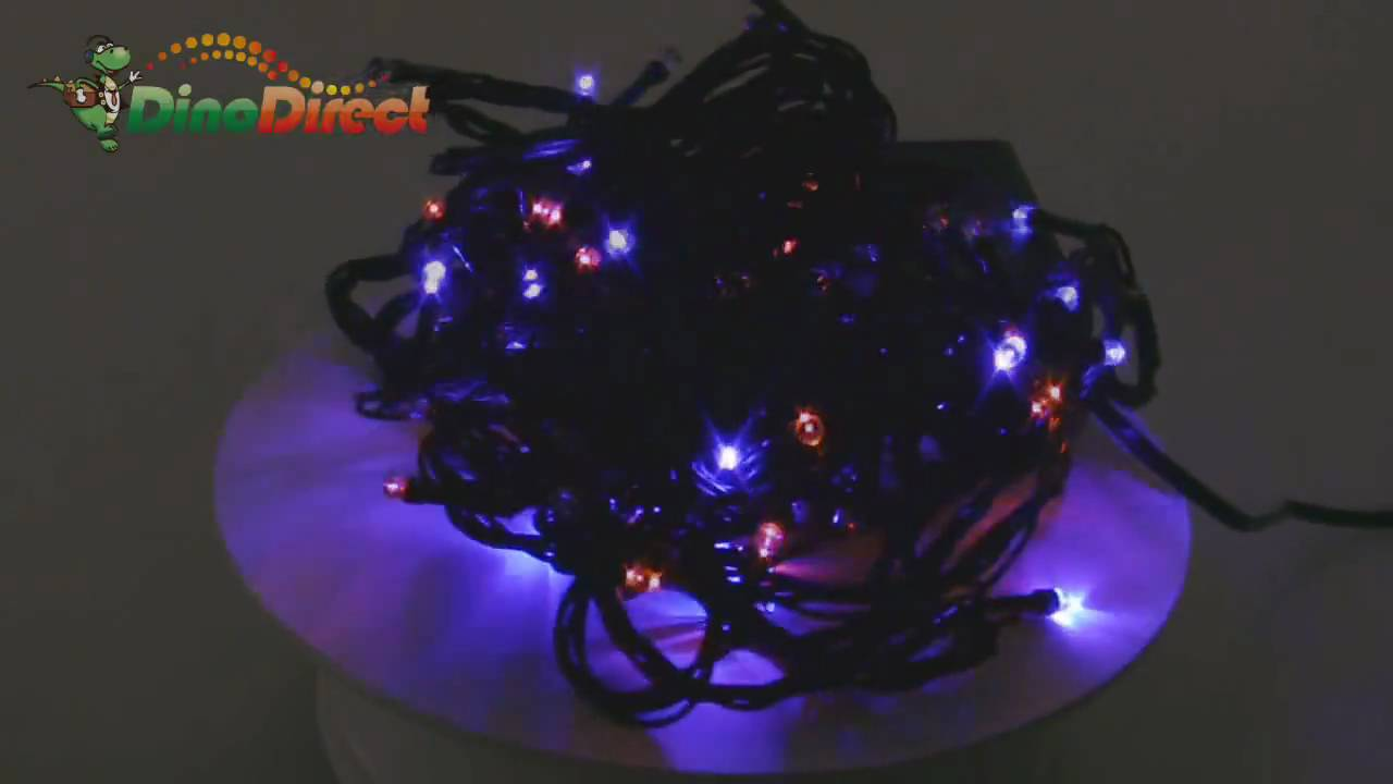Half String Of Christmas Lights Blinking : 10m 32ft 100 Bulbs Christmas Party Multi-color LED String Flashing Lights (220V - YouTube