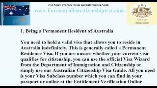 Australian Citizenship Test Eligibility
